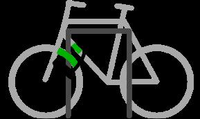 Attachez d'abord le cadre du vélo, puis votre roue avant