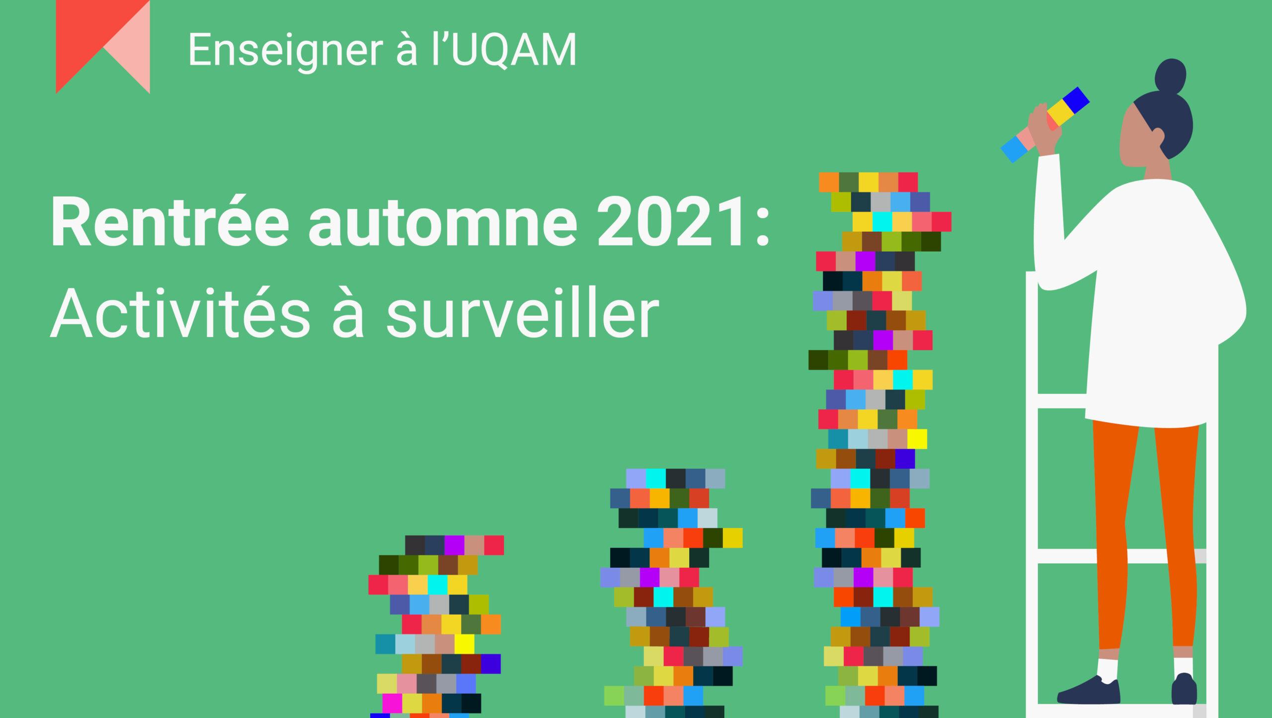 Rentrée automne 2021 : Activités à surveiller